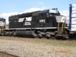 NS 3363 pushes on the rear WB